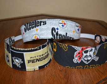 Reversible Pittsburgh Pirates, Penguins, Steelers Fabric Headband for Women