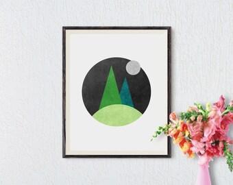 Minimalist wall art, Minimalist art print, Minimalist art, Minimalist print, Printable Art, Nature prints, Nature art, Instant Download