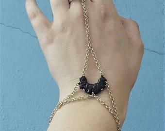 Moon hand chain