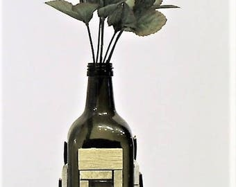 Wine and liquor bottle art