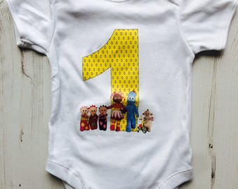 Custom Babygrow,Custom T-shirt,In The Night Garden T-shirt,Iggle Piggle Birthday Top,Personalised T-shirt,(any name,any age)