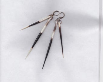 "4"" Porcupine Quill Tribal Earrings"
