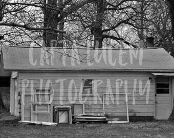 Original Photography - Rural, Black and White Print