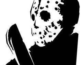 Jason Vorhees Friday the 13th Horror Vinyl Car Decal Bumper Window Sticker Any Color Multiple Sizes Halloween