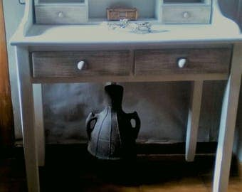 Solid limed Wood writing desk