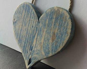 Pallet wood heart hanging decoration.