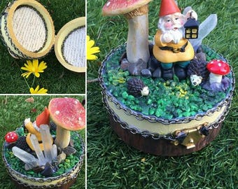 Garden Gnome trinket box
