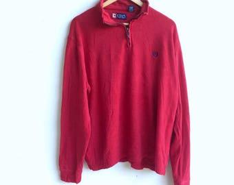Vintage Est 1978 CHAPS small logo sweatshirt red colour extra large size