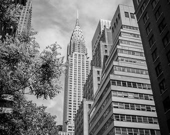 "Digital art, printable file, 300dpi download 24x36 + 8x12 Street Photography New York city Manhattan Chrysler building ""CHRYSLER"""