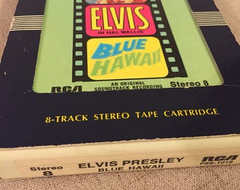 Elvis Presley 8 Track, Blue Hawaii, 1961, RCA, Music