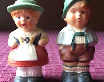Vintage Goebel Hummel Boy and Girl Figurine Salt and Pepper Shakers