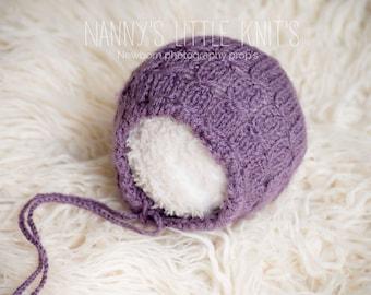 Newborn photography prop girls bonnet 0-3 months