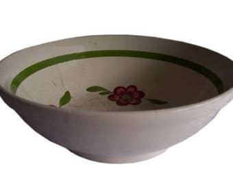 Vintage - old, large bowl, England fine goods 1970s, ceramic decoration