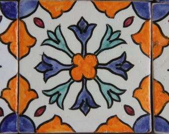 Hand-painted tile Aya decorative tile wall tile art Hangemachte tile Moroccan tile Moroccan coasters