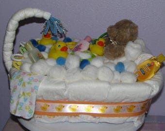 Bath Tub Diaper Cake - Lovely Baby Shower Gift