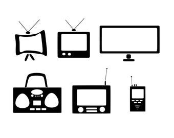 TV svg/Radio svg/TV Clipart/ Radio Clipart