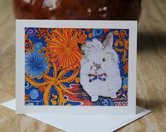 Blank Cards, FREE SHIPPING, Rabbit Illustrations, Rabbit Rescue Donation