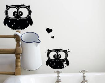 Wall stickers OWL Emil and Emilia M650