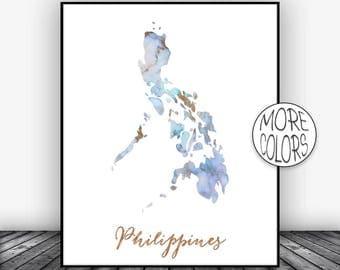 Philippines watercolor map art print 1579 philippines print philippines art print watercolor map philippines map wall art prints marble wall art artprintszoe publicscrutiny Images