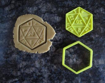 3d Printed D20 Cookie Cutter / Fast Shipping / Saturday Night D&D