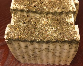 All Natural Tea Infused Peppermint Shea Butter Soap