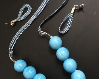 Jewelry, Sky Blue Necklace with earings