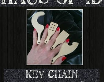 Key chain miniature Bdsm Spanking Paddle in YOUR CHOICE of COLOR •Made to Order•