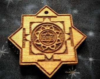 Kamala Yantra Talisman / Amulet / Sacred Geometry Pendant