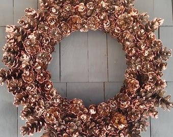 Pinecone Wreath Coral / Home Decor