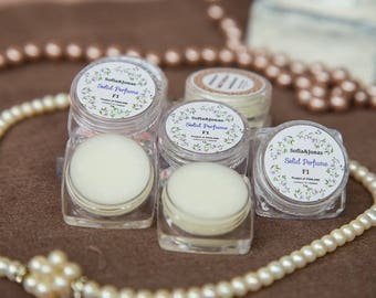 5 x Solid Perfume for woman (F1,F2,F3,F4,F5) from Thailand : natural color, paraben free and no alcohol