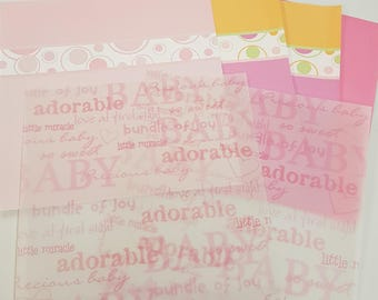 Bright Baby Girl Themed 12x12 Scrapbooking Weight Paper