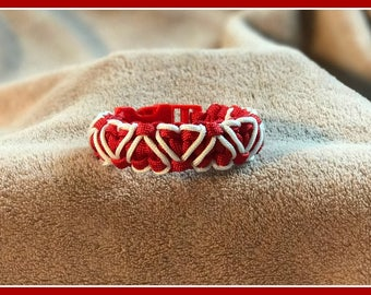 Paracord Red Heart Bracelet
