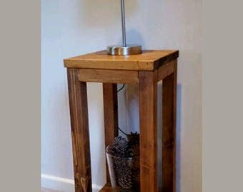 Tall Classic Solid Wood Lamp Table - 70cm x 30cm x 30cm - Various Colours Available