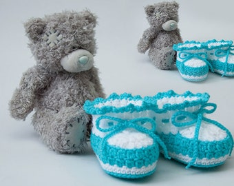 Booties for kids. Knitting instruction