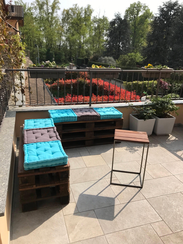 Pallet arredo giardino con rullo per giardino fai da te - Divanetti da esterno ikea ...