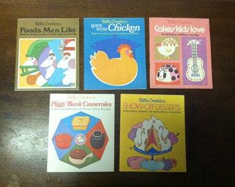 "5 Vintage Betty Crocker's Cookbook Booklets - C. 1969-1970 Vintage Betty Crocker ""Cookbooks"" Booklets Mid Century"