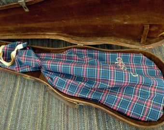 camiSolo lined violin bag, 100% cotton tartan, to protect your violin in its case