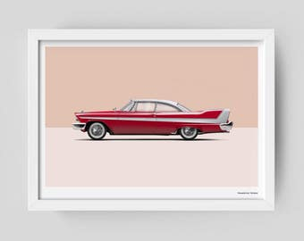 """Plymouth Fury """"Christine"""" limited edition art poster"""