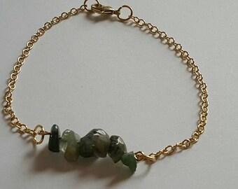 "Jasper Gemstone Bracelet 8"""