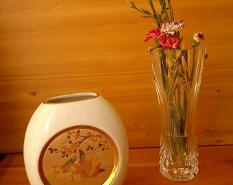 Art of Chokin Mandarin Duck Vase