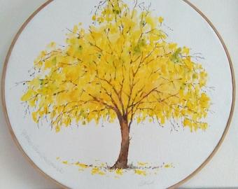 """Summer tree 10"""" hoop"""