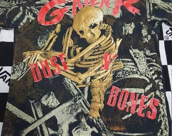 Vintage Guns N' Roses t-shirt, Dust N' Bones, big all over print, double sided,1992 original OG, Axl Rose, Slash