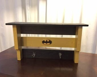 Batman Coat Rack / Shelf - Handmade from Pallets