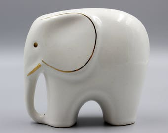 Vintage figurine elephant white porcelain elephant mid-century modern porcelain scandinavian design by Colani hard to find