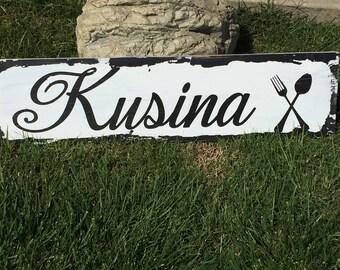 Kitchen Sign | Tagalog Kitchen Sign | Distressed Kitchen Sign | Wood Kitchen Sign