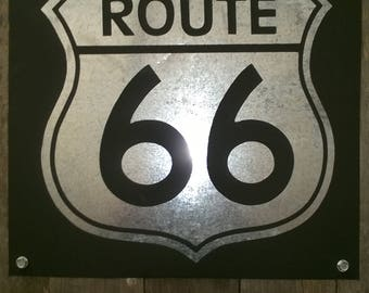 Rustic Route 66 wall decor