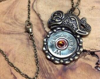 Tribal Elephant Bullet Necklace