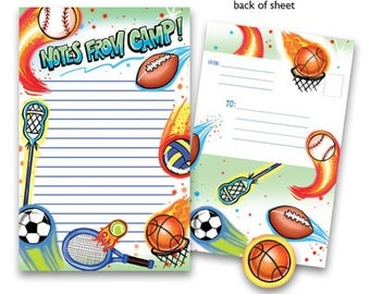 Camp Seal-N-Send Stationery - Airbrush Sports