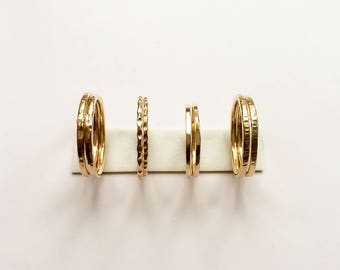 Pair of gold stacking rings | 14k gold filled