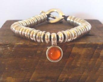Bracelet color resin me Orange